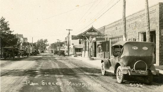 Downtown Mound, ca 1925