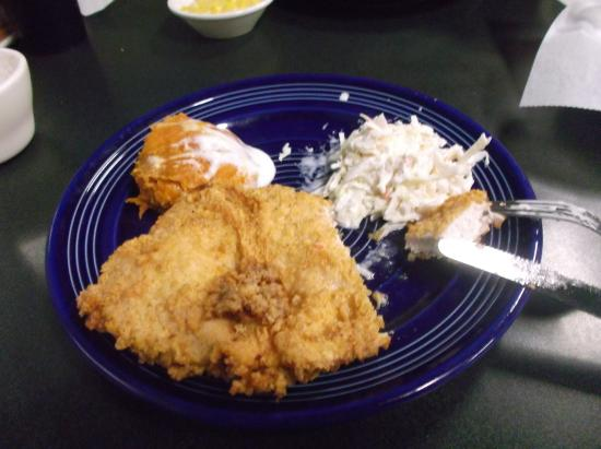 The Blue Plate: butermilk fried chicken, coleslaw and sweet potato casserole