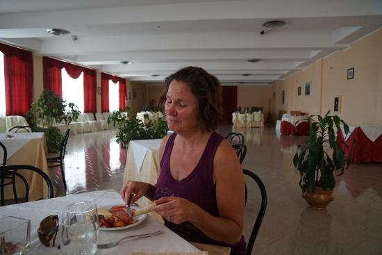 Hotel Ristorante Punto Verde: Enjoying our lunch in the banquet room.