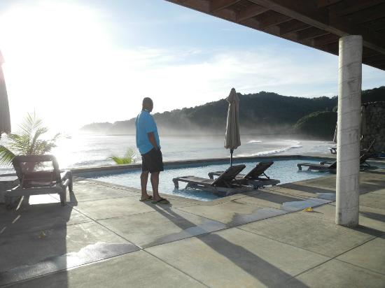 Marigot, Dominica: Early morning view from the pool area