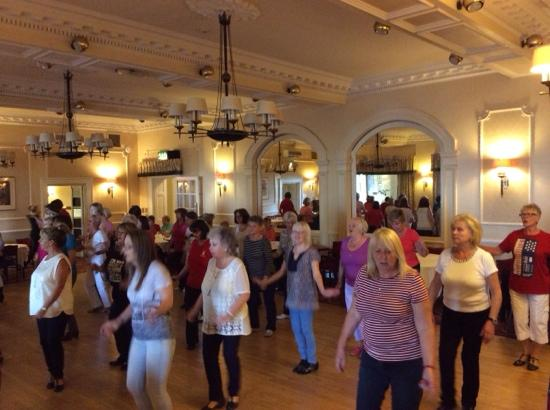 Windermere Hydro Hotel: line dancing in the ballroom