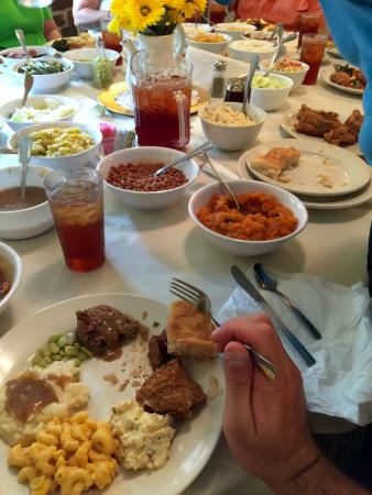 The Feast at the Big dinner table! - Picture of Mrs. Wilkes Dining ...