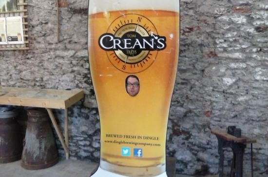 Dingle Brewery Company: Our son couldn't resist posing here