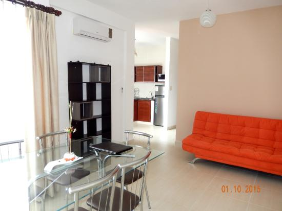 Aparthotel Premium Suites Santa Cruz : Living room Departamento Premium Doble PLUS