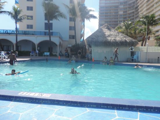 pool area picture of ocean sky hotel resort fort. Black Bedroom Furniture Sets. Home Design Ideas