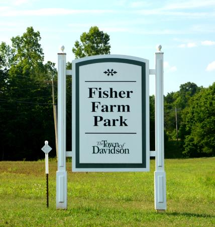 Davidson, NC: Sign at entrance of Shearers Rd