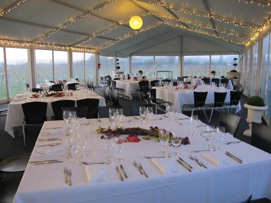 Gisborne, New Zealand: Function in the Marquee