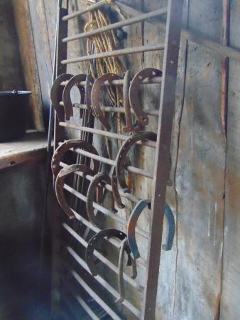 Markham Museum: horseshoes in Blacksmith building