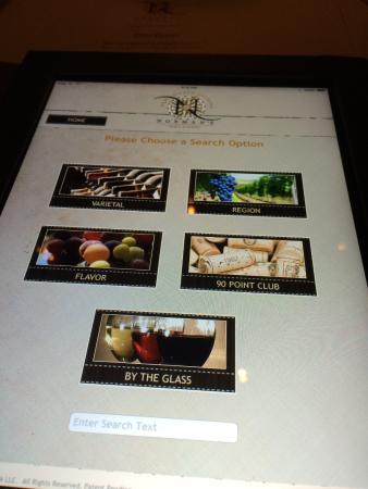 The iPad drink menu at Norman's
