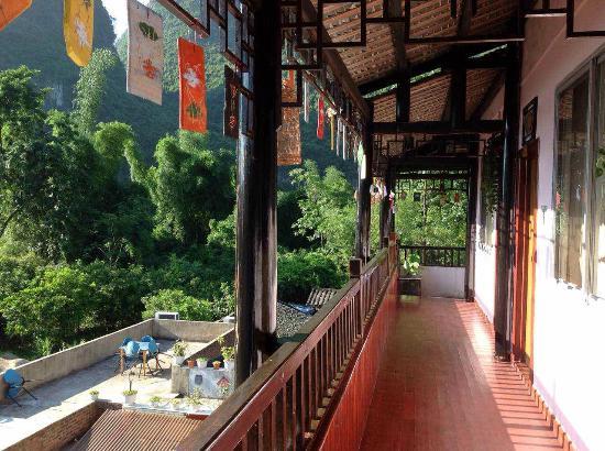 Xingping Our Inn: 三楼阳台 balcony