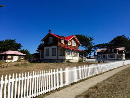 Point Cabrillo Light Station: Views of area, light house and the exterior of the assistant Light-keepers house.
