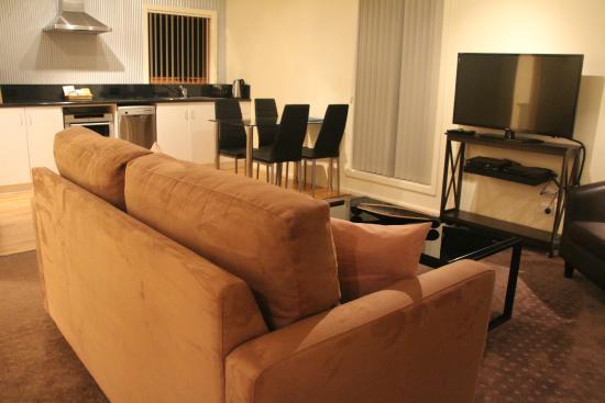 Aloft Boutique Accommodation Strahan: Sala de Estar