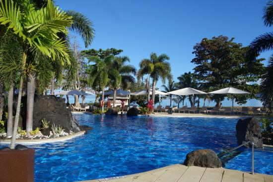 0ea349f39bcaf8 Großer Süsswasserpool - Picture of Sheraton Samoa Beach Resort ...