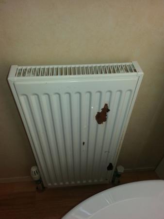 Parkdean - Challaborough Bay Holiday Park: rusting peeling radiator