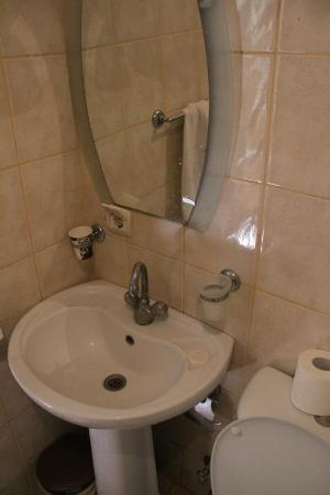 Istanbul Hotel Akdeniz: Bathroom view, the shower was basic but satisfactory.