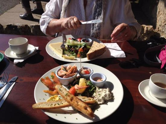 Branscombe, UK: Seafood Platter and Ploughman's Lunch