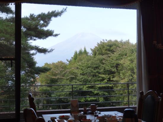 Yamanakako Shuzanso: レストランからの富士山