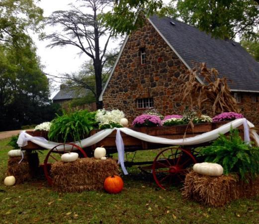 Casanova, VA: wagon outside the carriage house