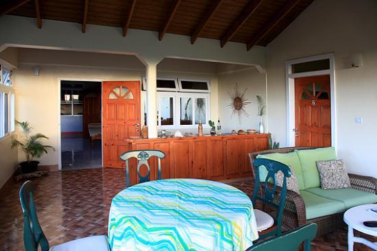 Marigot, Dominica: Private terrace