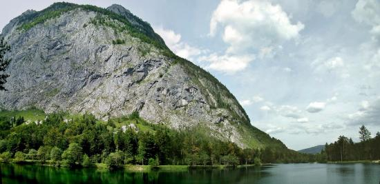 Golling an der Salzach, Austria: Bluntausee looking down the lake