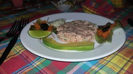 tartare de saumon au citron vert picture of pignon sur mer trois ilets tripadvisor. Black Bedroom Furniture Sets. Home Design Ideas
