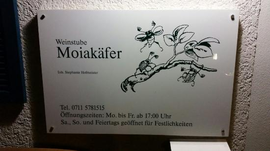 Weinstube Moiakafer