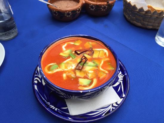 La cocina,  cafe del viajero: Sopa Azteca