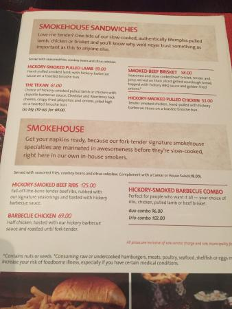 Menu Of Hard Rock Cafe Dubai