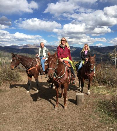 Clark, CO: Here we are enjoying our horseback ride.