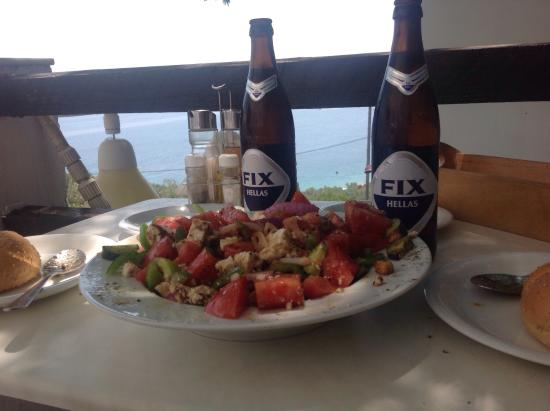 Villa Apollon Skiathos: Amazing food