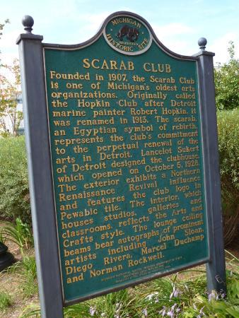 Scarab Club historic marker