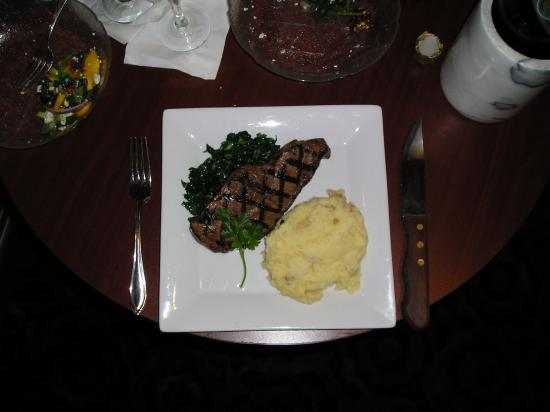 Berkeley Springs, WV: NY Strip Steak, Sauteed Kale and mashed potato