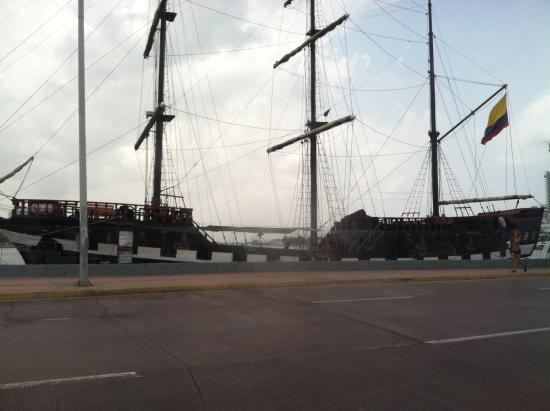 Claudia Vidal - Private Tour Guide: Replica of ship.