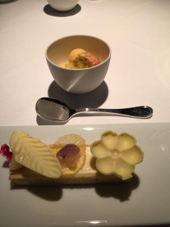 Baume: Pear Mousse and Apple Sorbet