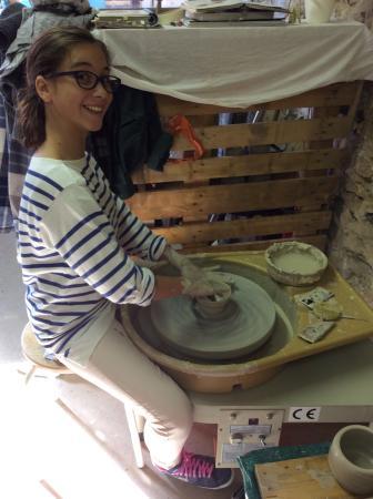 Bennecourt, France: L élève à l œuvre...