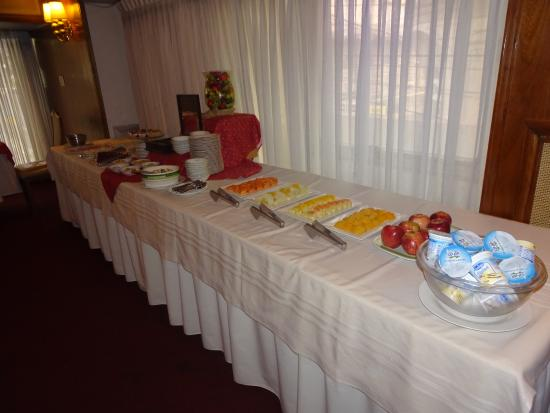 Hotel Chaco: The breakfast spread.  There is another table with juice and another with toast.
