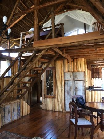 Ngong House: Two stories--bed upstairs.