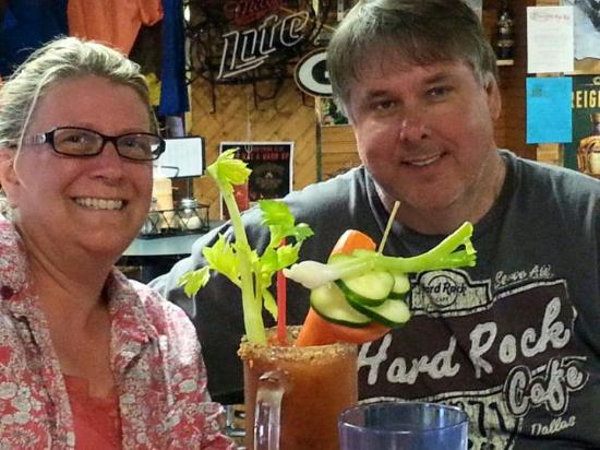 Cornucopia, WI : Best Bloody Mary ever! Little Nikki's