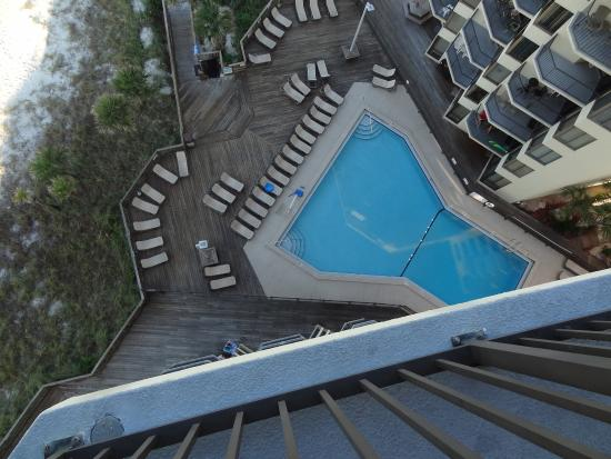 Sunbird Condominiums: View from the balcony down