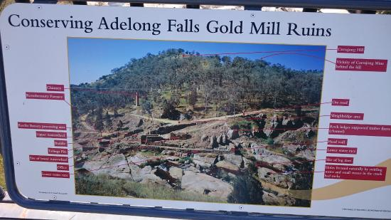 Adelong, Australia: Map of the ruin