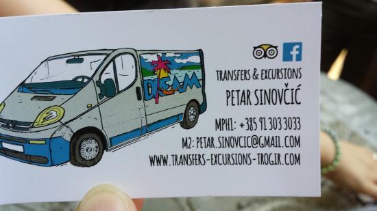 "Seget Vranjica, Croacia: Dream Transfers, the minibus ""can't miss it"""