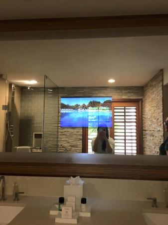 Villas of Grand Cypress  Bathroom with TV in mirror. Bathroom with TV in mirror   Picture of Villas of Grand Cypress