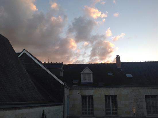 Hotel de Biencourt: Sunset view from our balcony
