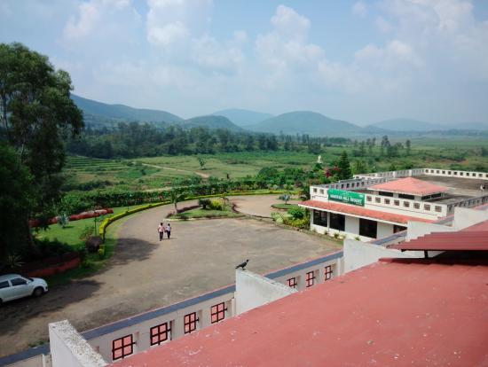 Balcony view from deluxe room picture of aptdc haritha - Araku valley resorts with swimming pool ...