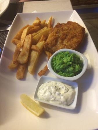 The Pepper Pot : Crispy fish in a delicious batter with homemade chips, mushy peas and tartare sauce