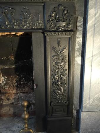 Yarmouth Port, MA: fireplace detail