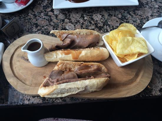 Aroma Coffee: Yummy beef baguette