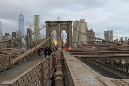 Traverser le pont de brooklyn pied picture of brooklyn bridge brookly - Toile pont de brooklyn ...