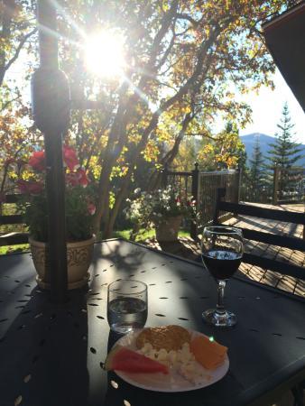 The Victorian: Happy Hour on the veranda in the setting sun
