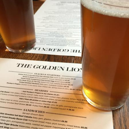 The Golden Lion: Our first beers in London